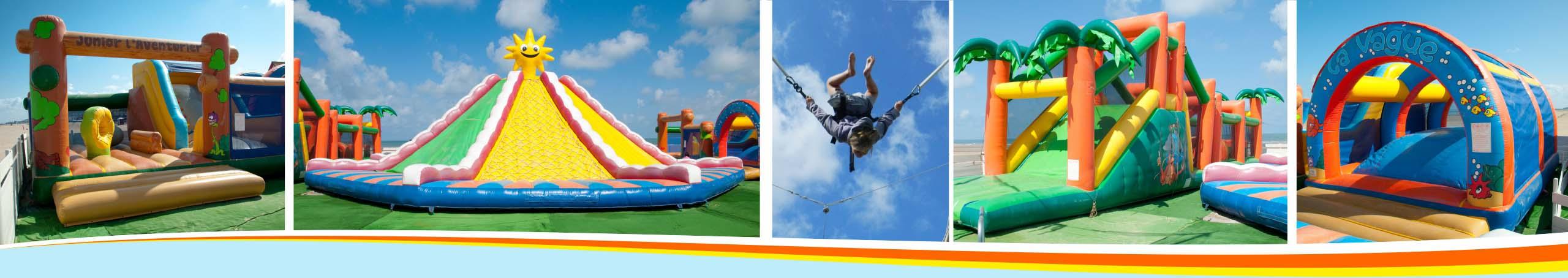 location attractions jeux enfants structure gonflable trampoline vacances hiver