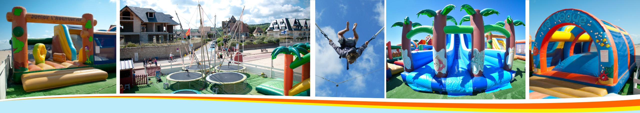 location, location gonflables, attractions, jeux, enfants, structure gonflable, trampoline, vacances, hiver, calvados, normandie